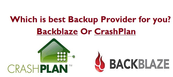 Crashplan vs Backblaze review and comparison